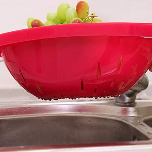 Basket, Chshe, Multifunktions-Klappküchenständer Basket Basket Ablagekorb, Pp Rot (Gericht Kanalisation)