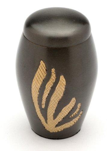 "Urns UK Urna de cremación recuerdo urna Newbury, Negro 3""recuerdos"