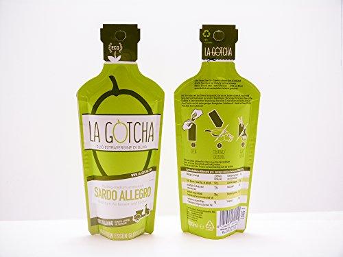 La Gotcha Sardo Allegro - italienisches natives Olivenöl extra vergine im Set - 3x100ml Papierflasche Sardo Allegro - nachhaltig von Kleinbauern in Sardinien produziert