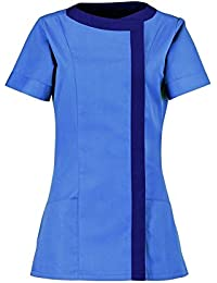 Alexandra Women'S Asymmetric Tunic (Nf191) Size 8 Color Metro/ Navy*