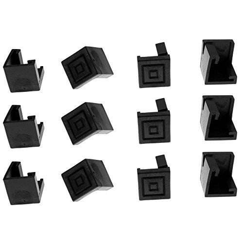 Bodenschoner Satz 12 Stück für Festzeltgarnitur Kunststoff schwarz