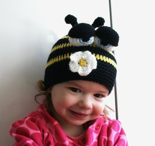 Crochet pattern busy bee beanie (47) 5 sizes newborn to adult (crochet hats Book 1) (English - Busy Bee Kostüm