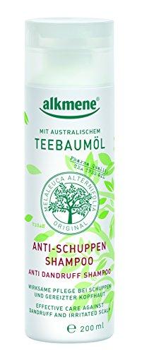 alkmene Teebaumöl Anti-Schuppen Shampoo, 3er Pack (3 x 200 ml) - vegan, ohne Silikone, Mineralöle