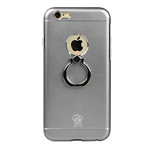 Phone case & Hülle Für IPhone 6 / 6s, Hat-Prince Magnesium Legierung + PC + TPU Kombi-Fall mit Ring Halter Stand ( Color : Rose Gold ) Grey