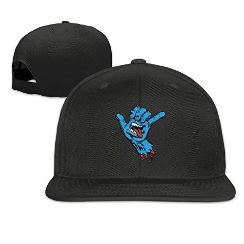 Youaini Santa Cruz Skateboards Shaka Hand Sticker Hip Hop Hat Cap One Size for Baseball Caps Black -