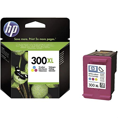 HP 300XL - Cartucho de tinta Original HP 300 XL de álta capacidad Tricolor para HP DeskJet HP PhotoSmart Hp ENVY