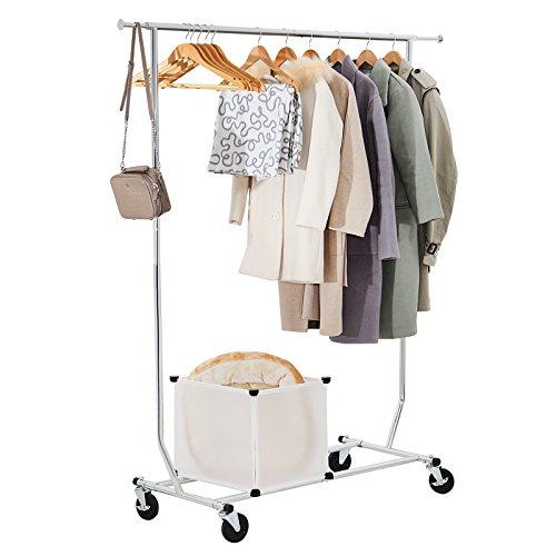Seelux Industrie Kleiderständer auf Rollen 80kg ausziehbar zusammenklappbar Höhenverstellbar