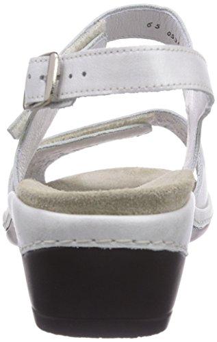 Semler - Heidi, Scarpe col tacco con cinturino a T Donna Bianco (Weiß (011 offwhite))
