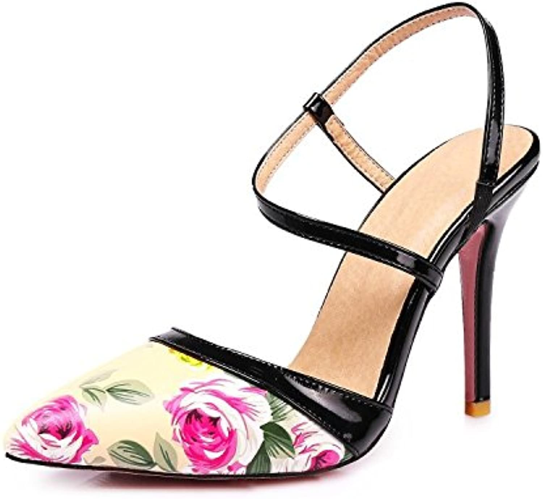 Donna Donna Stampa Stiletto Tacco Alto Slip-On Prom Party Sandali Scarpe Taglia | Ricca consegna puntuale  | Maschio/Ragazze Scarpa