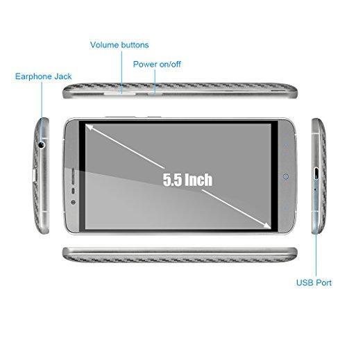 Elephone P8000 - Smartphone libre Android  pantalla 5 5   c  mara 13 Mp  16 GB  Octa-Core 1 3 GHz  3 GB RAM   gris