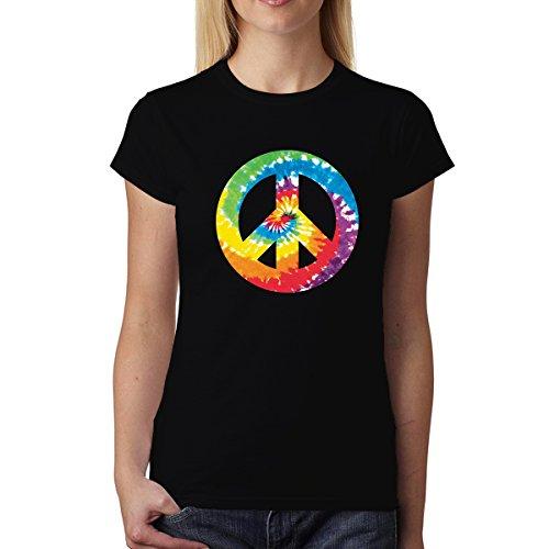 Signe Peace and Love Femme T-Shirt Noir M
