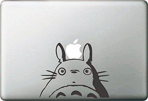 Vati Blätter Removable kreative Karikatur Mein Nachbar Totoro Aufkleber Aufkleber Skin Art Schwarz für Apple Macbook Pro Air Mac 13