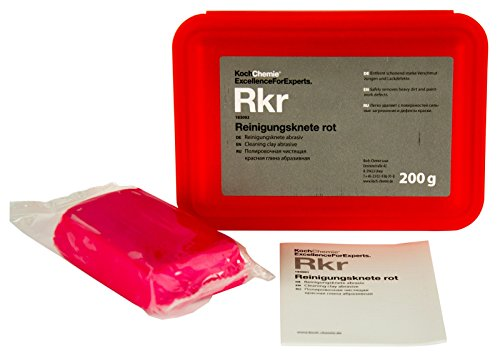 KOCH CHEMIE Reinigungsknete Reinigungsknetmasse Knetmasse rot abrasiv 200 g