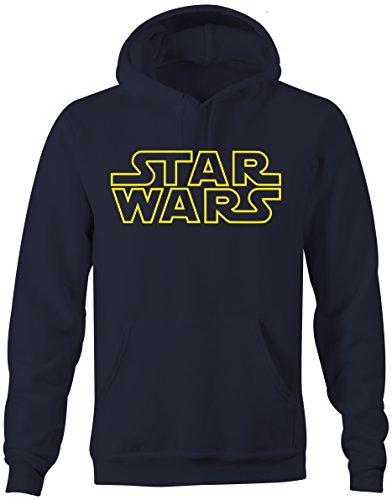 Prilano Herren Hoodie - Star-Wars-Logo - XL - Navy