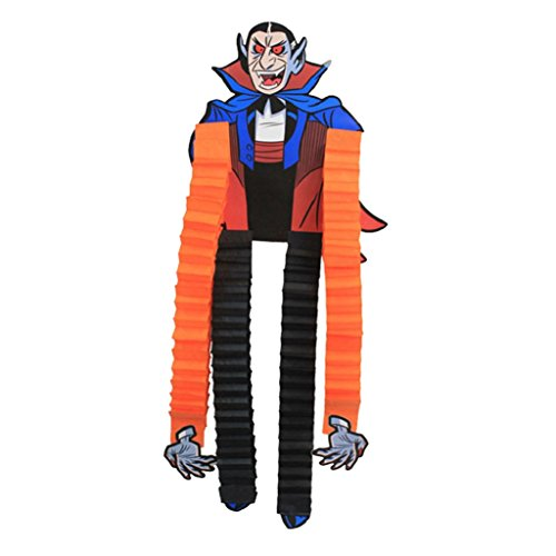 Originaltree Halloween-Papier-hängende Verzierungen Hexe-Skelett-Party-Dekoration (Hängende Vampire Prop)