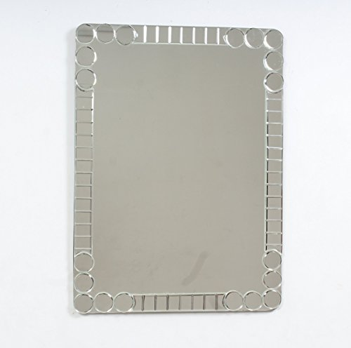 """Quality Glass Glass And MDF Decorative Wall Mirror (18""""x24"""", Silver, Rectangular Shape)"""