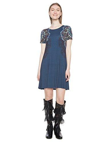 Desigual Damen Kleid Vest_Cora, Blau (Navy 5000), XX-Large