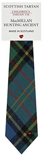 Boys Clan Tie All Wool Woven in Scotland MacMillan Hunting Ancient Tartan