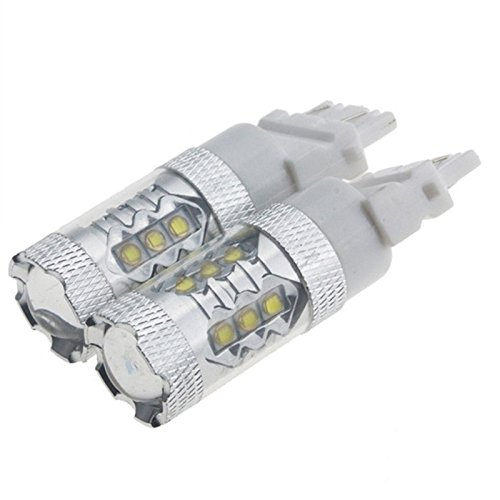 nolunttm-2pcs-80w-t25-high-power-white-car-rear-tail-stop-turn-lamps-drl-bulb-light-12v-16-smd-lens-