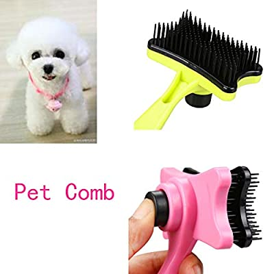 ToDIDAF Pet Hair Comb, Pet Dog Cat Hair Fur Shedding Trimmer Grooming Rake Plastic Comb Tool, Improve Skin Resistance Relieve Fatigue 13X7.5CM from ToDIDAF