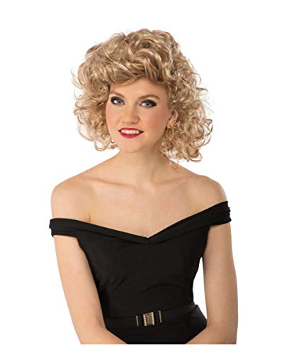 Horror-Shop Grease Bad Sandy Perücke blond für Fasching & Motto ()