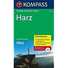 Großer Wanderatlas Harz: 110 Erlebnistouren mit Top-Routenkarten 1:50000 (KOMPASS Große Wanderbücher, Band 587)