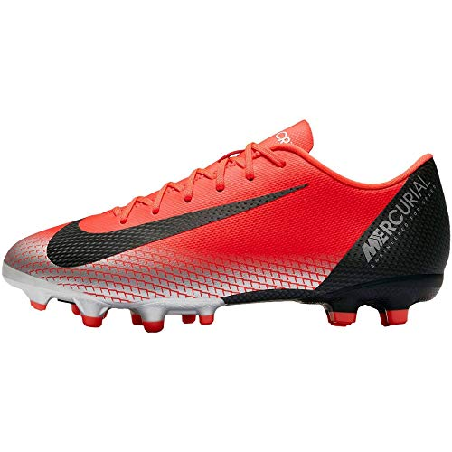 Nike Vapor 12 Academy Gs CR7 MG, Unisex-Kinder Fußballschuhe, Rot (BRIGHT CRIMSON/BLACK-CHROME-DA 600), 37.5 EU
