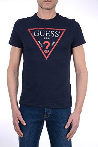 Guess Herren T-Shirt CN SS Clear Tee BLU G720
