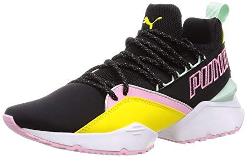 Puma Damen Muse Maia TZ WN's Sneaker, Schwarz Black-Blazing Yellow, 39 EU (Ferrari Schuhe Mädchen Puma)