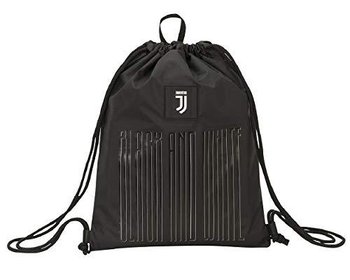 Sacca Zaino Juventus FC Black and White Coulisse Palestra Scuola 46x35 cm