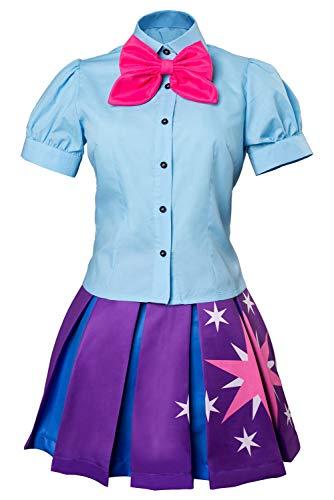MingoTor Colegiala Uniforme Escolar Anime Dress Cosplay Costume Adulta Pink Mujer XXL