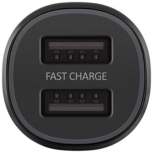 Samsung Dual Fast Charge Car Charger Dual USB Port 15W Black Image 6