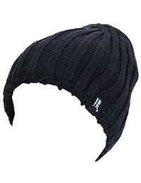 Mens New Heat Holder HEAT WEAVER Thermal Hat, (Black)