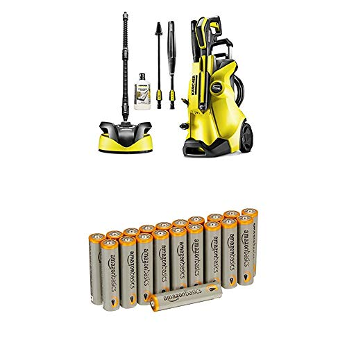 Kärcher K4 Full Control Home Pressure Washer with Amazon Basics Batteries