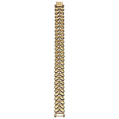 Orla Kiely gelb vergoldet Leaf Armband Länge 19-21cm