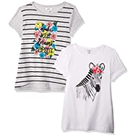 OVS Girl's 191TSH061D-230 2 T-Shirt, Grey (Paloma 1683), 5-6