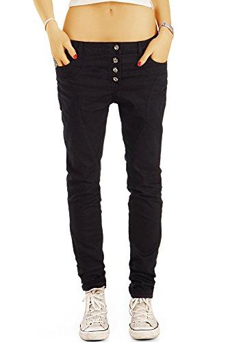 Bestyledberlin Damen Boyfriend-Jeans, Loose Fit Jeans, Bequeme Baggy Jeans j28g 38/M (Schwarze Beste Frauen Jeans)