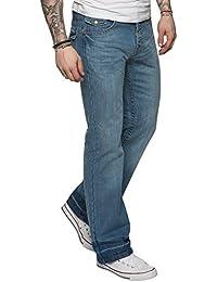 APT New Mens Flared Bootcut Denim Jeans Blue Wide Leg King All Waist Sizes A42