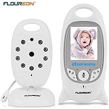 FLOUREON Vigilabebe monitor bebé digital inalámbrico, cámara de seguridad, visualización de temperatura, diálogo bidireccional, visión nocturna