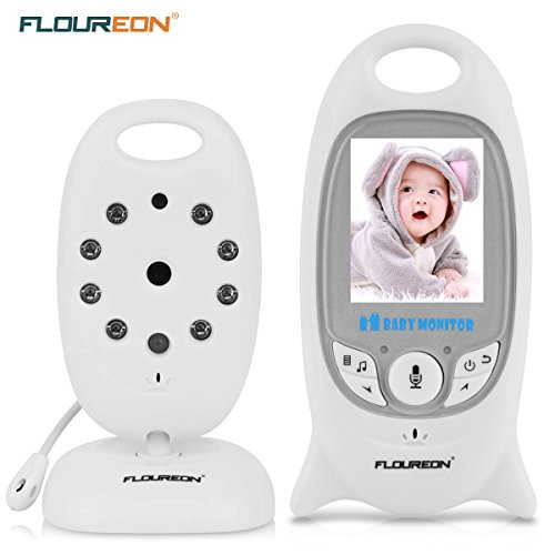 FLOUREON VB601 - Vigilabebés digital con monitor y cámara inalámbrica (LCD de 2.0