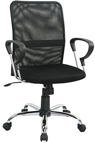 SixBros. Poltrona sedia ufficio sedia girevole nera - H-8078F-2/1322
