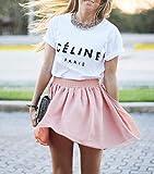 Celine Paris Unisex Damen Herren Top T-shirt Rihanna Swag Comme Des Fuckdown Geek Meow Hype-M