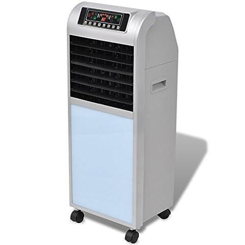 vidaXL Refroidisseur d'air électrique 120 W 8 L 385 m³/h 37,5 x 35 x 94,5 cm