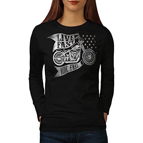 live-fast-ride-free-motor-bike-women-new-black-m-long-sleeve-t-shirt-wellcoda
