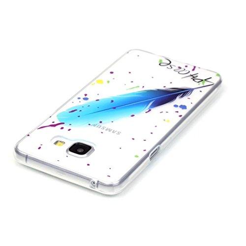 Vandot Samsung Galaxy A5 2016 Coque de Protection Etui Transparent Antidérapant Pour Samsung Galaxy A5 2016 Etui Protection Dorsale Étui Slim Invisible Housse Cover Case en TPU Gel Silicone Hull Shell Motif-03