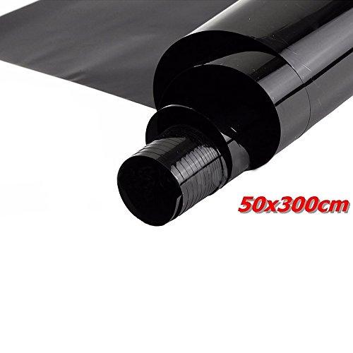 E Support 50cm * 3m 5% VLT schwarz pro Glasfenster Tönungsfolie Rollen Auto Zuhause Büro Fenstertönung