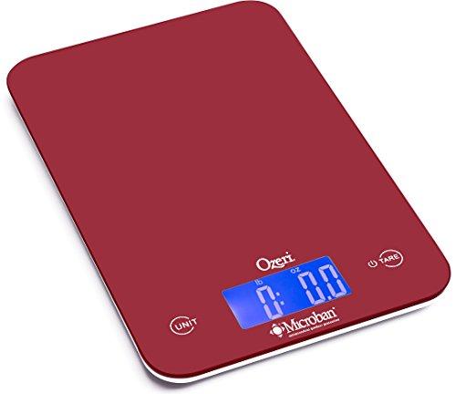Ozeri Balance de Cuisine numérique 8 kg Touch II, avec Protection antimicrobienne Microban