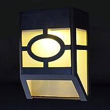 Lampara Solar de la Pared Exterio,AZXES,Lámpara Solar LED Impermeable,Lámpara Solar