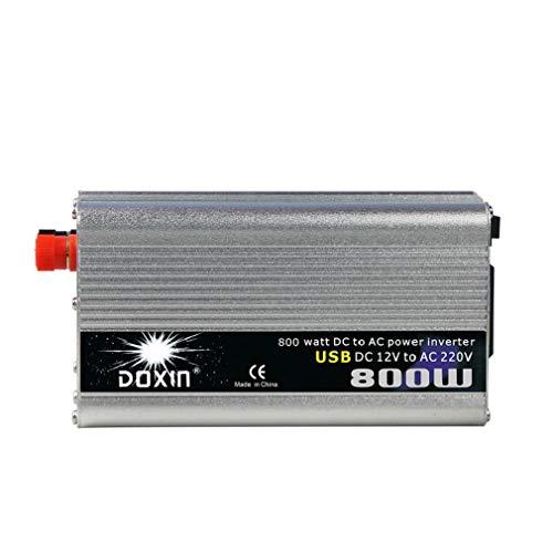 ZHJYD 800W Car Power Inverter, Multifunktionsbuchse, USB-Buchse, DC 12V / 24V Zu AC 220V modifizierter Sinus Wechselrichter Car Power Inverter für Autos. (Size : 12V/220V/800W)