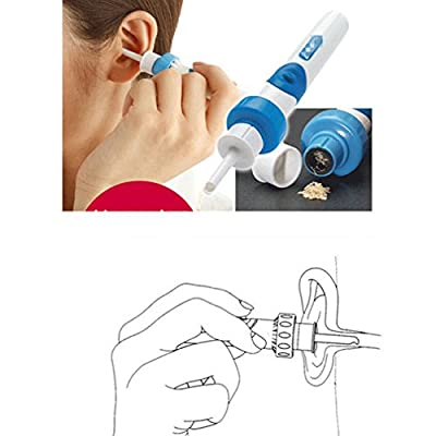 juqilu Ear Wax Cleaner, Electric Earpick Ear Wax Removal Cleaner Kit, Smart Earwax Removal Earwax Remover, Safe No Hurt No Pain